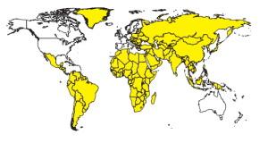 Hepatitis A risicolanden